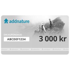 Addnature presentkort 3 000 kr